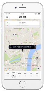 Bild: UBER - App in London
