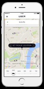 Bild: UBER - App in London
