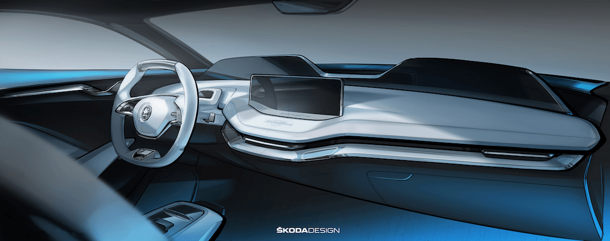 Der erste Blick auf das Interieur des neuen Skoda Vision E