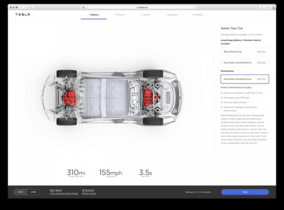 Dual-Motor billiger: Tesla aktualisiert Modell 3 Optionen und Preise