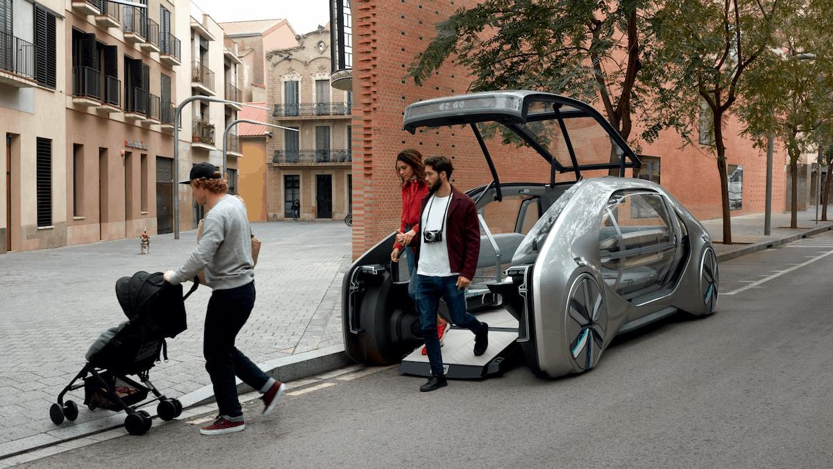 Bequem ein- und aussteigen ins Robo-Taxi
