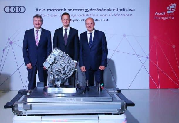 Audi startet die Elektromotorenproduktion für E-Tron Quattro