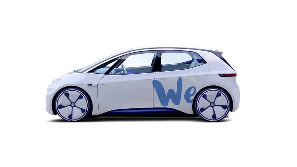 I. D. bald als CarSharing-Fahrzeug? Quelle: Volkswagen Media Services