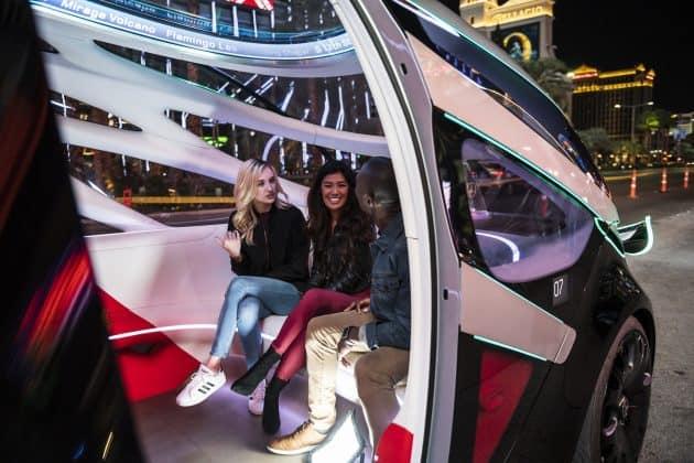 Mit dem Vision URBANETIC auf dem Las Vegas Strip