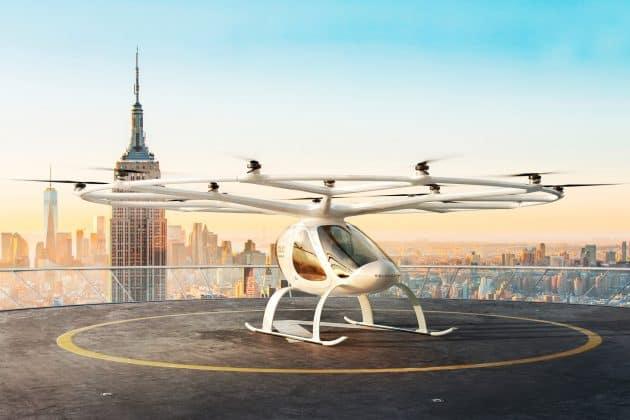 In Frankfurt kooperieren Fraport und Volocopter für den Betrieb von Flugtaxis