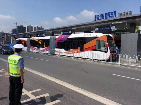 Die Strassenbahn von CRRC aus China - ganz ohne Schienen und Oberleitungen