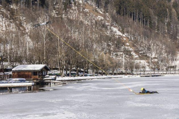Anwendungsfall: eine Drohne zur Personenrettung im Eis