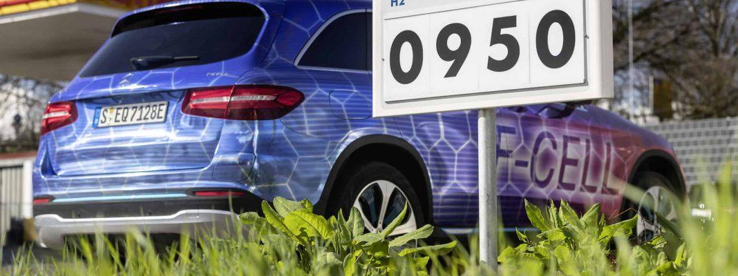 Bildrechte: Mercedes-Benz - der GLC F-CELL tankt Wasserstoff