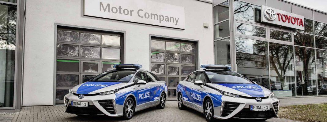 Bildrechte: Toyota - Brennstoffzellen Auto Mirai für die Polizei Berlin