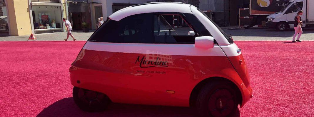 L7e Fahrzeug: elektrischer Microlino - Bildrechte Michael Brecht