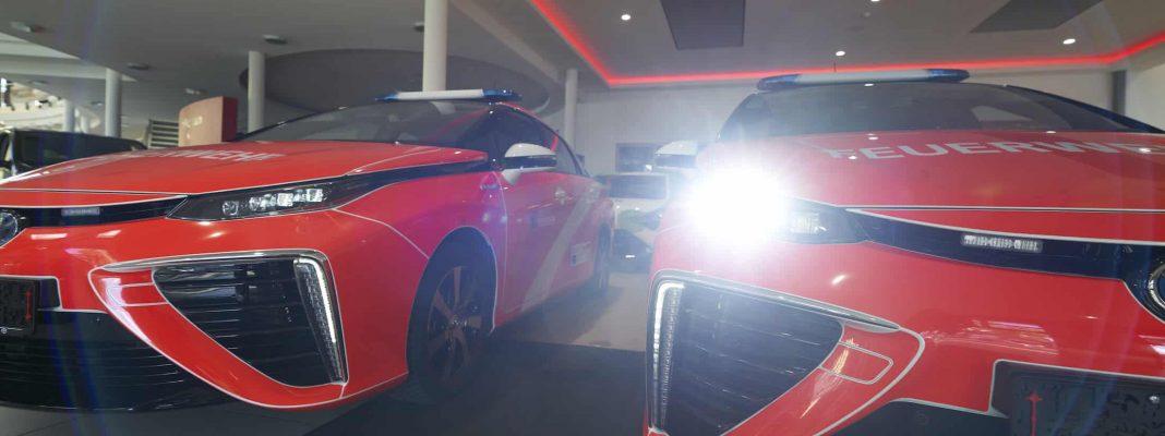Bildrechte: Toyota - vier Mirai Wasserstoff Fahrzeuge für die Berliner Feuerwehr