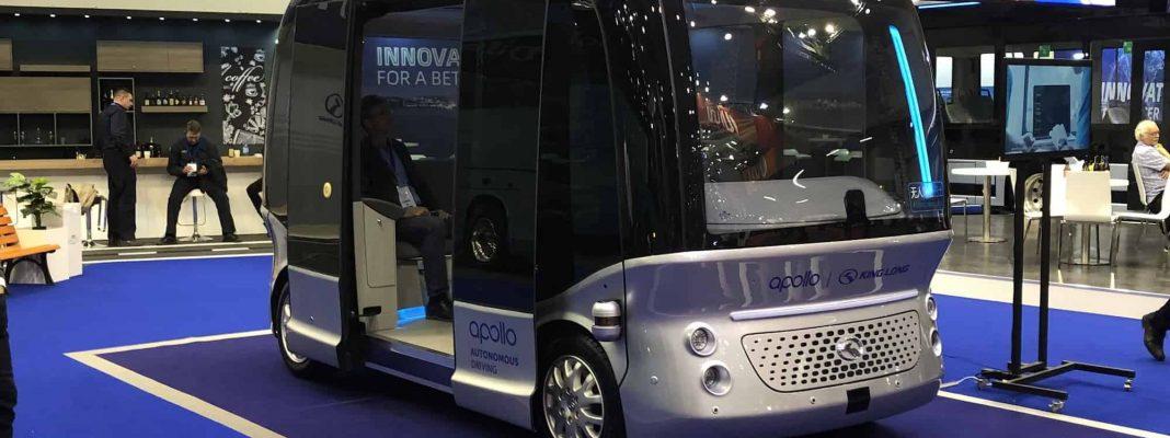 Elektrischer Kleinbus auf der Busworld Messe in Brüssel - Bildrechte Michael Brecht