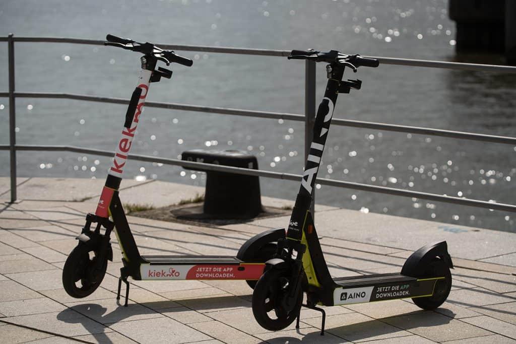 Funky E-Scooter von FREE NOW in Hamburg